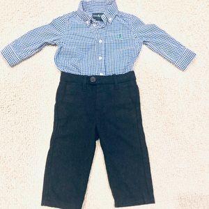 Ralph Lauren | Gingham Shirt and Dress Pant Bundle